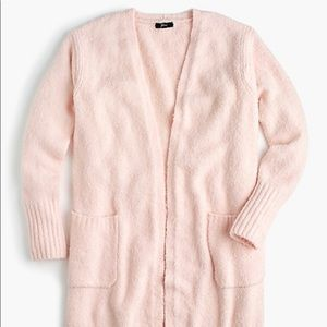 Jcrew Boucle long cardigan